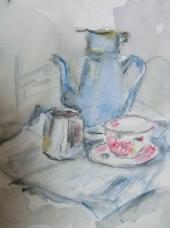 "Gonny van der Weerd, aquarel ""stilleven"" afm. 31 x 23 cm."