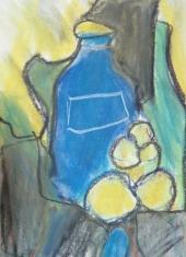 "Gonny van der Weerd, pasteltekening ""stilleven"" afm. 41 x 29 cm."
