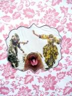 """Karel Otten, collage """"quot"""" afm. 30 x 40 cm."""