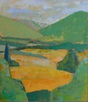 "Dick Bout, acryl ""Provence 1"" afm. 50 x 60 cm."