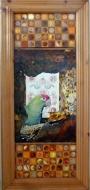 """Karel Otten, collage """"Couleur locale"""" afm. 30 x 65 cm."""
