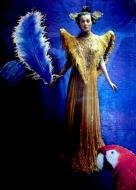 "Karel Otten, collage ""prinses in geel"" afm. 20 x 30 cm."
