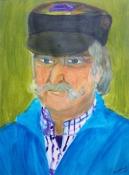 """Atty Kraeima, acryl op papier """"Lammert"""" afm. 30 x 40 cm."""