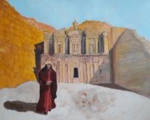 """Bea van Dillen, acrylschilderij """"Petra herder"""", afm. 50 x 40 cm."""
