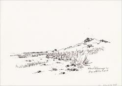 """Henk Werner, pentekening """"Oerdblinkert"""" afm. ca. 18 x 26 cm."""