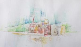 """Tom Kuper, gem.techniek """"Ault"""" afm. 20 x 30 cm."""
