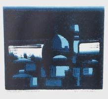 "Tom Kuper, lino ""Jeruzalem"" afm. 25 x 20 cm."