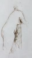 "Tom Kuper, conté-tekening ""naakt"" afm. 30 x 40 cm."