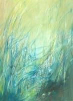 """Carin Westendorp, olieverf """"uiterwaarden"""" afm. 60 x 80 cm."""