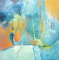 "Carin Westendorp, acryl ""zonder titel"" afm. 60 x 60 cm."