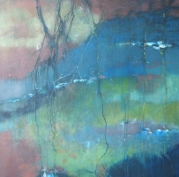 "Carin Westendorp, olieverf ""zonder titel"" afm. 70 x 70 cm."