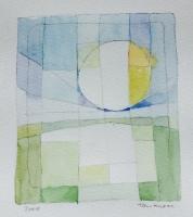 "Tom Kuper, gem.techniek ""zonopkomst"" afm. 20 x 20 cm."