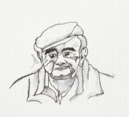 Hetty Diender, Boerke, gemengde techniek,15 x 10 cm