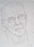 Hetty Diender, Henk van Ulsen, potlood, 29 x 20 cm