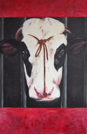 "Thera Klooster, acryl ""herman"" afm. 115 x 75 cm."