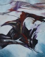 "Margriet Westendorp, acryl op doek ""vrij werk zonder titel"" afm. 50 x 40 cm."