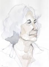 """Henk Schuurman, aquarel """"portret 1"""" afm. 34 x 47 cm."""