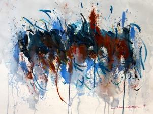 Johann van den Noort. 16110. ZT' 2016 gouache, 56 x 76 cm